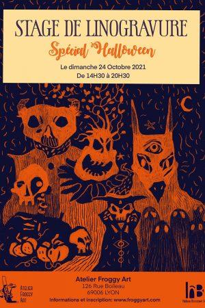 Affiche_Stage-Linogravure-Halloween_2021